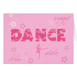 La tarjeta de nota de la danza se imagina sueño pa