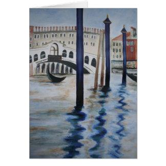 La tarjeta de nota del puente de Rialto