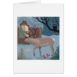 La tarjeta de nota del reno