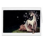 La tarjeta de nota del unicornio