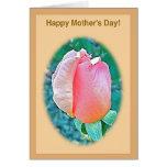 La tarjeta de nota feliz del día de madre, melocot