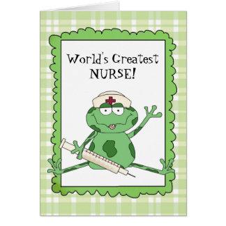 La tarjeta de nota más grande de la enfermera del