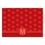 La tarjeta de nota roja brillante moderna del luna