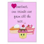La tarjeta de profesor dulce del Shoppe de la