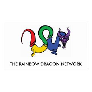 La TARJETA de red del dragón del arco iris Tarjetas De Visita