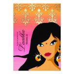 La tarjeta de regalo del salón de belleza invita a invitaciones personalizada
