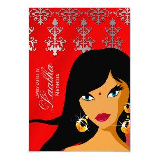"""La tarjeta de regalo del salón de belleza invita a invitación 3.5"""" x 5"""""""