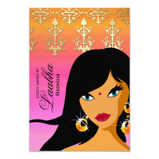 """La tarjeta de regalo del salón de belleza invita invitación 3.5"""" x 5"""""""