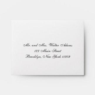 La tarjeta de RSVP del boda envuelve la invitación Sobres