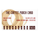 La tarjeta de sacador de la mancha del café tarjeta de negocio