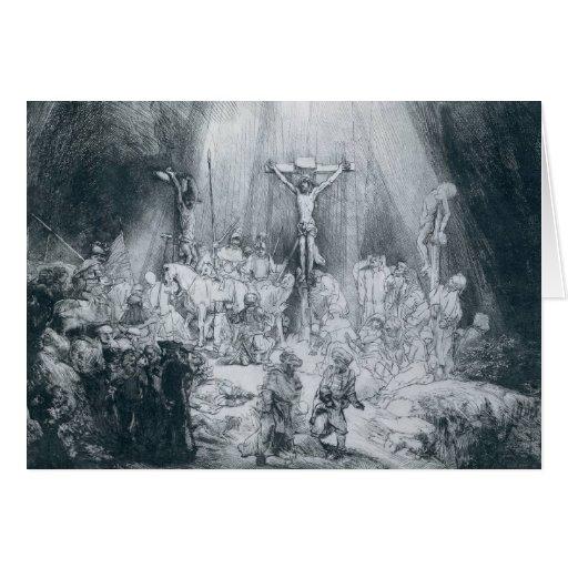 La tarjeta de tres cruces