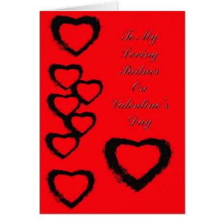 La tarjeta de Valentne para el socio