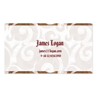 La tarjeta de visita artística profesional