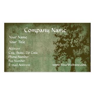 La tarjeta de visita de encargo diseña el árbol v