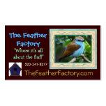 La tarjeta de visita de la fábrica de la pluma