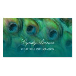La tarjeta de visita de la fantasía del pavo real