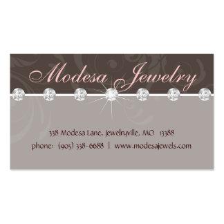 La tarjeta de visita de la joyería Birthstones rem