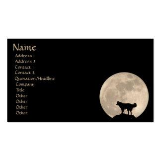 La tarjeta de visita de la Luna Llena personaliza