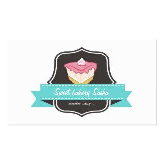 La tarjeta de visita de la panadería de la torta