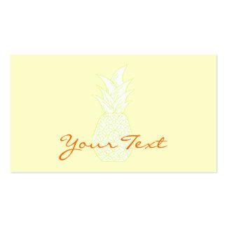 La tarjeta de visita de la piña
