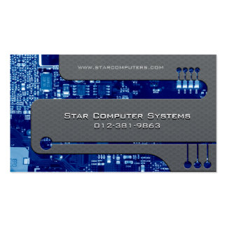 La tarjeta de visita de la reparación de la PC