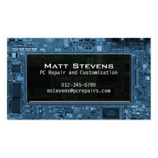 La tarjeta de visita de la reparación del ordenado