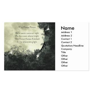 La tarjeta de visita de las hadas del bosque