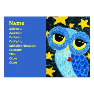 La tarjeta de visita del búho del soñador