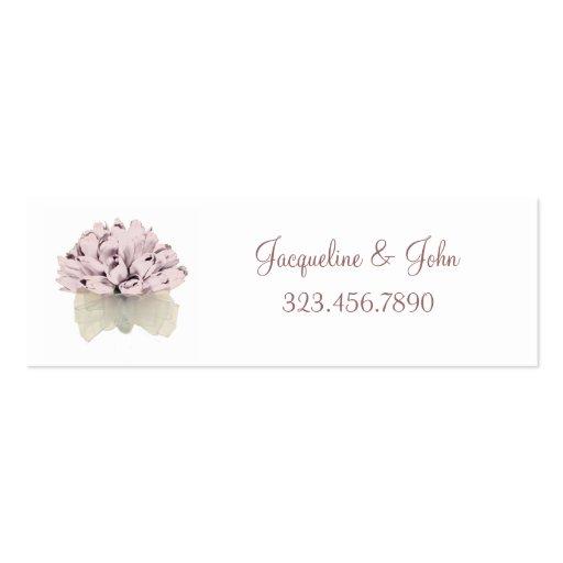 La tarjeta de visita del ~ de los rosas del rosa