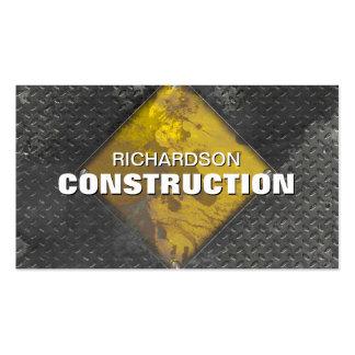 La tarjeta de visita del metal de la construcción