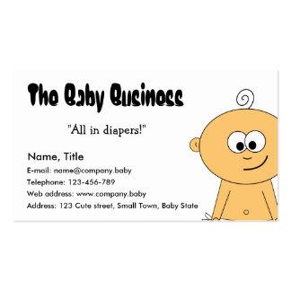 La tarjeta de visita del negocio del bebé