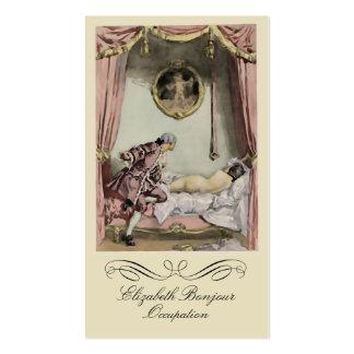 La tarjeta de visita francesa del ~ de la cama