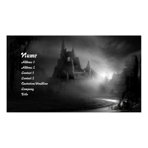 La tarjeta de visita gótica del hogar del camino