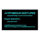 la tarjeta de visita más ampgest