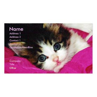 La tarjeta de visita más linda del gatito del mund