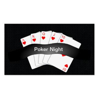 La tarjeta de visita rechoncha de la noche del pók