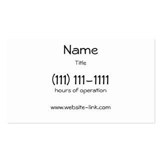 """La tarjeta de visita simple, 3,5"""" x 2,0"""", 100"""