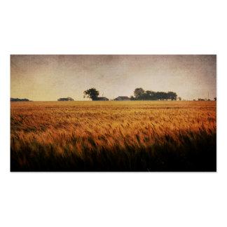 La tarjeta de visita vieja de la granja de la fami