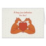 La tarjeta del amor de la tarjeta del día de San V