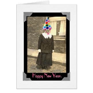 La tarjeta del Año Nuevo del vintage