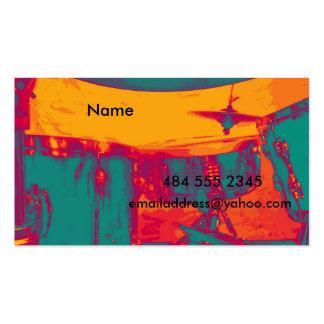 La tarjeta del batería tarjetas de visita