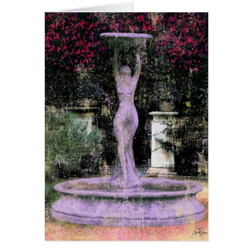 La tarjeta del ~ de la diosa del jardín florece la