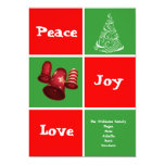 La tarjeta del día de fiesta de Navidad de la Invitación 12,7 X 17,8 Cm