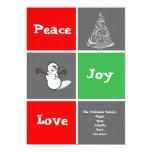La tarjeta del día de fiesta de Navidad de la Comunicado