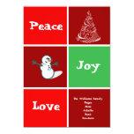 La tarjeta del día de fiesta de Navidad de la Comunicado Personal
