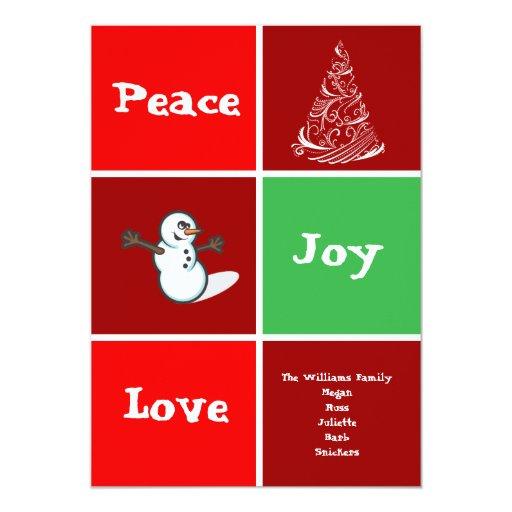 """La tarjeta del día de fiesta de Navidad de la Invitación 5"""" X 7"""""""