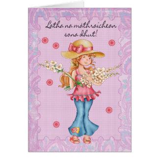 La tarjeta del día de madre de Galic del escocés,