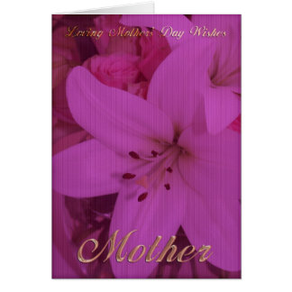 La tarjeta del día de madre de Lilly, mimando a do