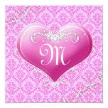 """La tarjeta del día de San Valentín adaptable del Invitación 5.25"""" X 5.25"""""""