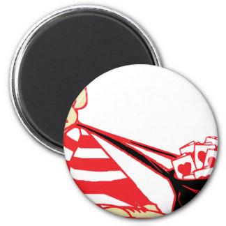 la tarjeta del día de San Valentín carda el bolso Imán Redondo 5 Cm